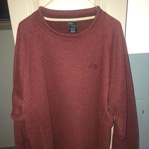 The North Face Burgundy Sweatshirt - Size XXL